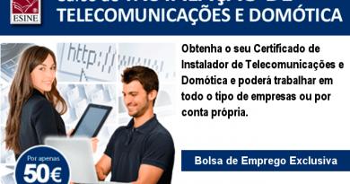 curso de instalação de telecomunicações e domotica